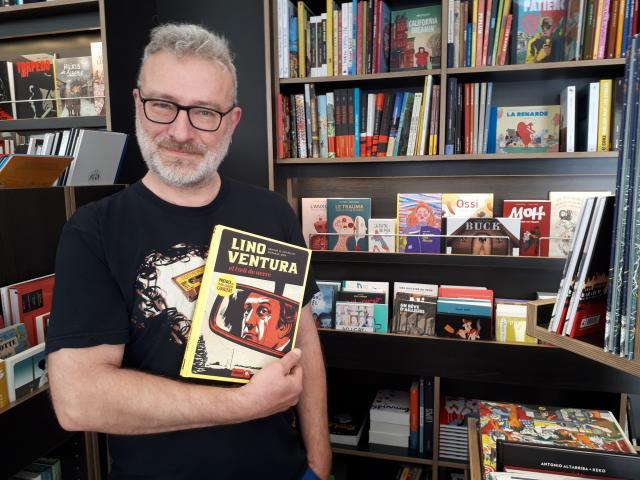 Fred Sendon présente l'album BD Lino Ventura