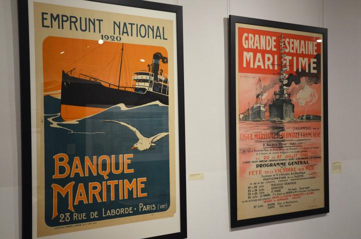 """Affiches de l'exposition """"À la conquête des mers"""" à Villon"""
