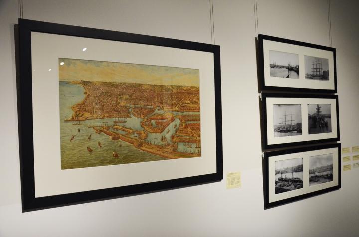 Dessin du port du Havre et photos du port de Rouen