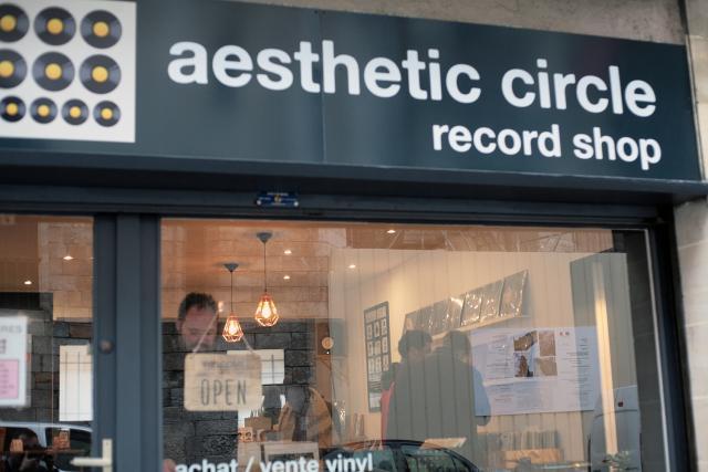 façade du Aesthetic Circle Record Shop