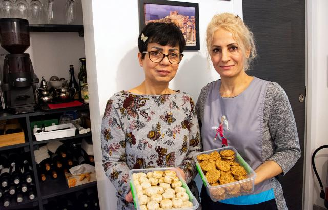 """Mouna et Sawsan du restaurant """"Les soeurs syriennes"""""""