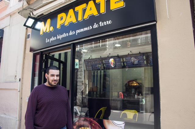 Extérieur de la boutique M. Patate