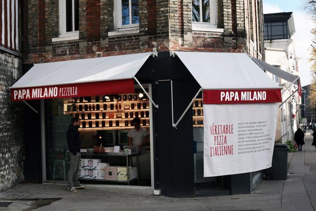 Facade de Papa Milano Pizzeria