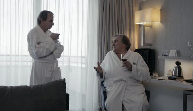 """Michel Houellebecq et Gérard Depardieu dans """"Thalasso"""""""