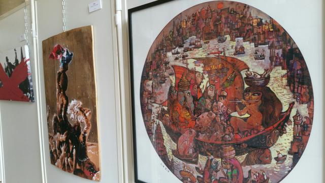 Oeuvre de Ronel - expo Changeons de regard sur les Réfugié-e-s