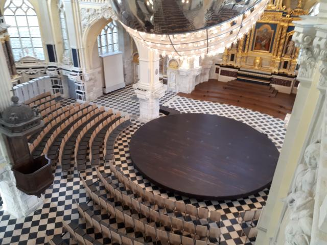 la scène de la chapelle Corneille à Rouen