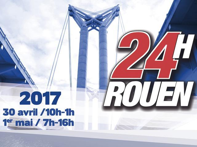 Visuel affiche 24h motonautiques de Rouen 2017