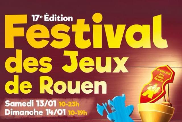 Affiche festival des jeux de rouen 2018