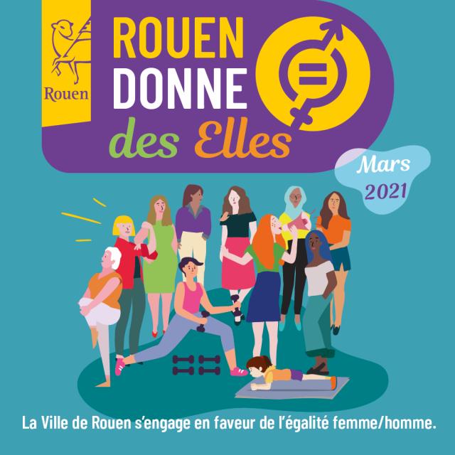 """Visuel carré """"Rouen donne des elles"""" 2021"""