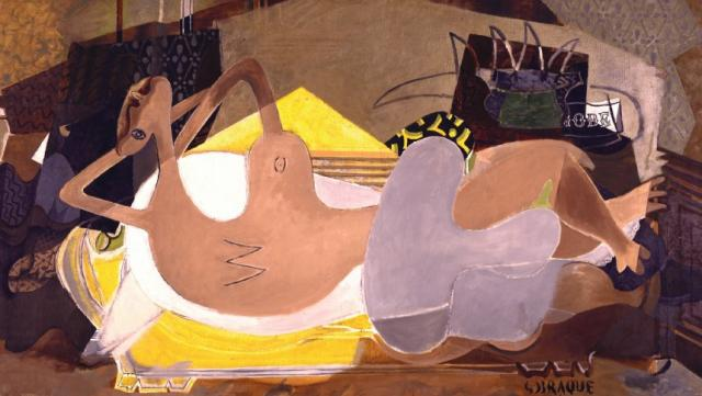 """Nu couché"" par Georges Braque"