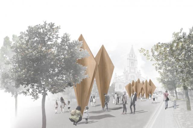 Perspective du projet place Saint-Sever