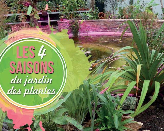 Visuel des 4 saisons du jardin des plantes