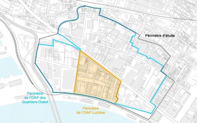 Carte des quartiers ouest de Rouen