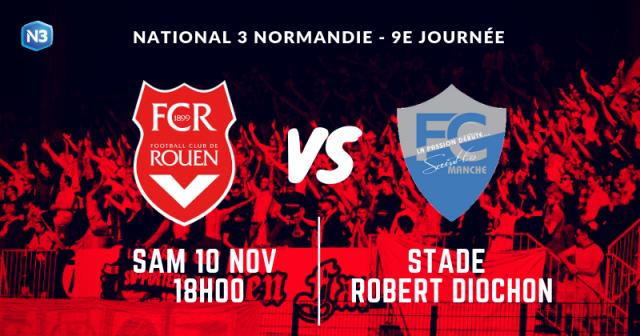 Affiche du match Rouen - Saint-Lô
