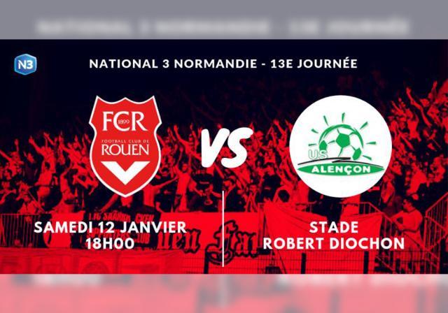 Affiche FC Rouen - US Alençon