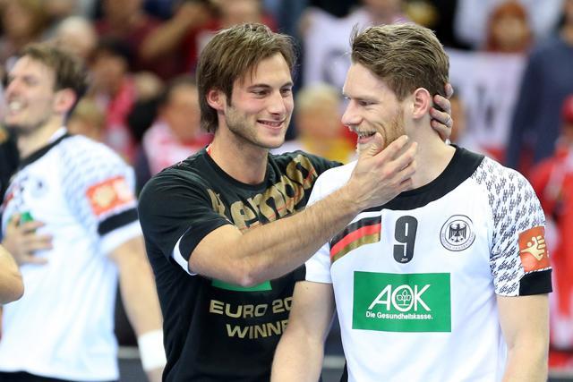 Joueurs allemands après leur victoire à l'Euro
