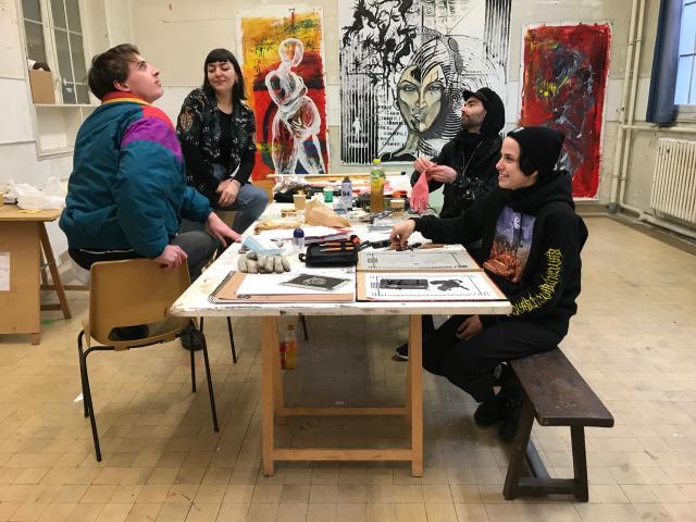 4 artistes du collectif Chevalet Noir à Rouen