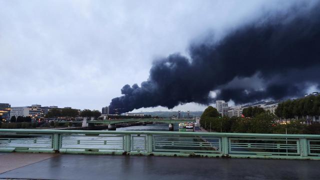 Image de l'incendie de l'usine Lubrizol le 26 septembre 2019