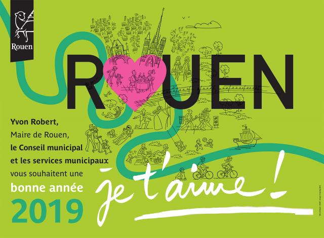 Carte de voeux Ville de Rouen 2019