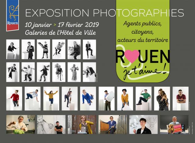 """Visuel Expo """"Rouen en 3D"""""""