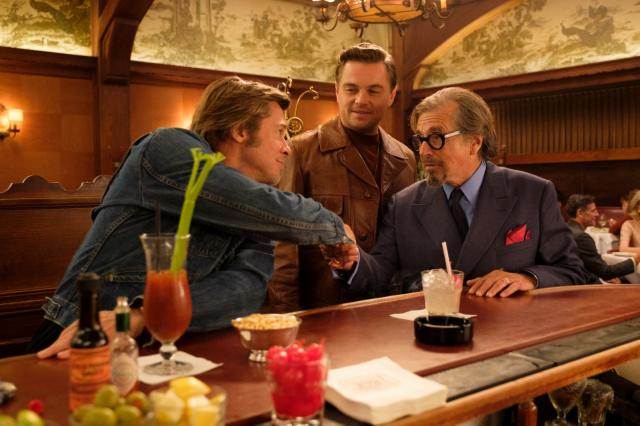 Brad Pitt, Leonardo DiCaprio et Al Pacino dans Once Upon A Time… In Hollywood