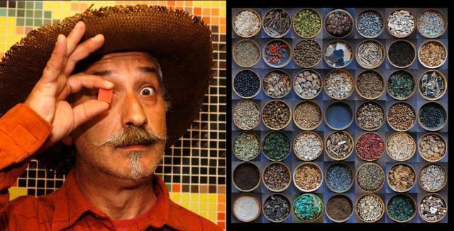 Portrait de Pascal Levaillant et installation de tamis
