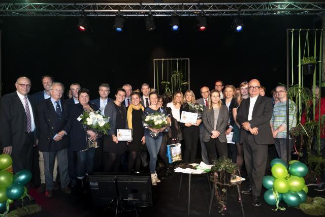 Photo de groupe, lauréats Prix de l'accueil de Rouen 2018