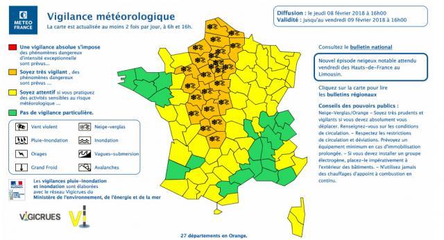 Carte de vigilance météo