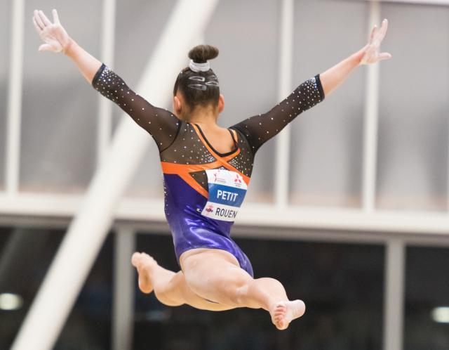 La gymnaste Sheyen Petit