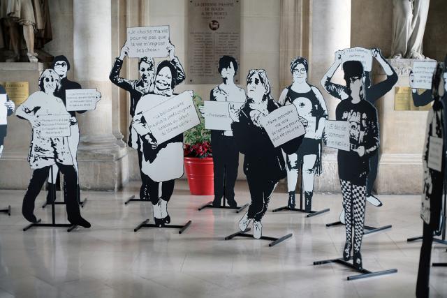 Quelques silhouettes déjà exposées à l'Hôtel de Ville