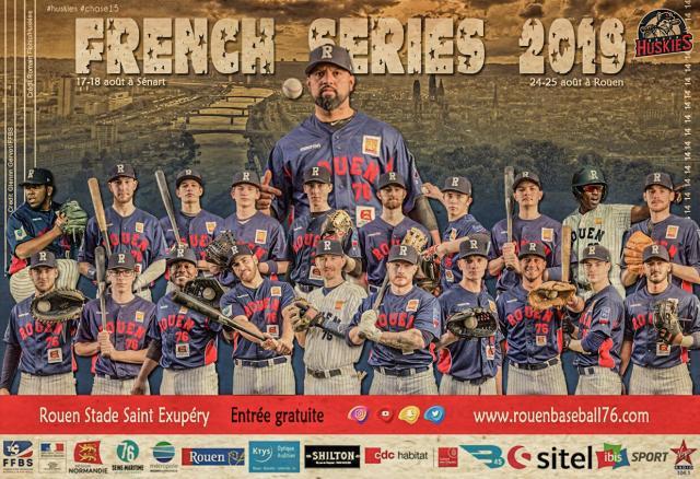 Affiche officielle de la finale avec tous les joueurs rouennais