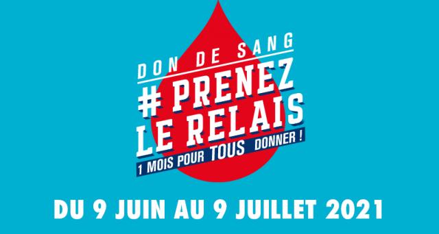 Visuel #PrenezLeRelais don du sang 2021