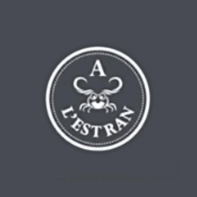"""logo poissonnerie """"A l'estran"""""""