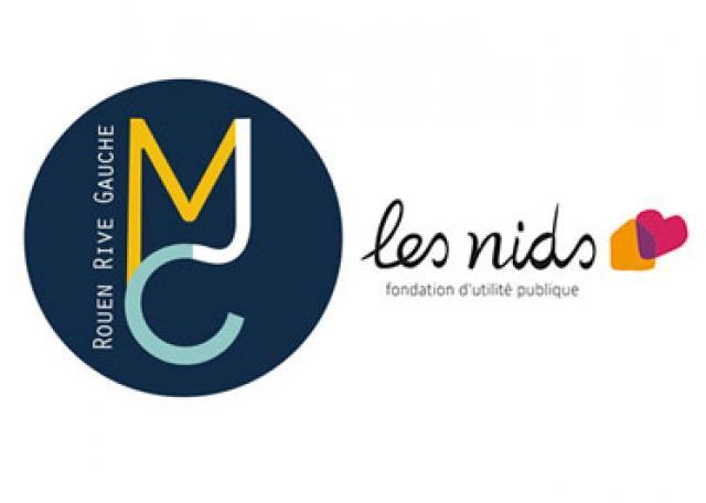 Logos MJC Rive Gauche + Fondation Les Nids