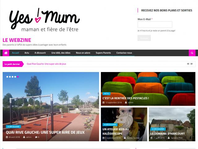Capture écran webzine Yes Mum