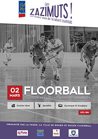 affiche tournois Floorball
